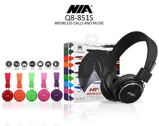 تصویر هدفون بی سیم نیا مدل Nia Q8-851S NIA Q8-851S Wireless Headphones