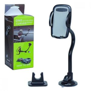 one-button-open-curved-support-car-holder